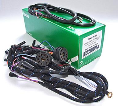 motorcycle wiring harness connectors lucas bsa bantam d10/14 (wipac) main harness | national ...