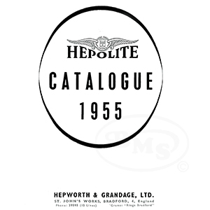Hepolite 1955 Piston Abbreviations, Head Shapes, Rings and Gudgeon Pin  Types  HEPLEX/3321