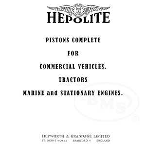 Hepolite 1955 Pistons Complete for Commercial Vehicles, Tractors, Marine  and Stationary Engines  GRAMS/3324