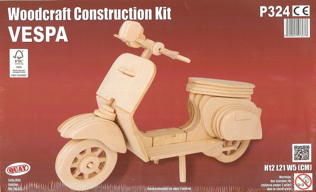 Woodcraft Construction Kit – Vespa