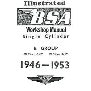 bsa 1946 to 1953 workshop manual 348cc b31 and 499cc b33 models rh nationalmotorcyclemuseum co uk bsa a65 workshop manual pdf bsa workshop manual free download