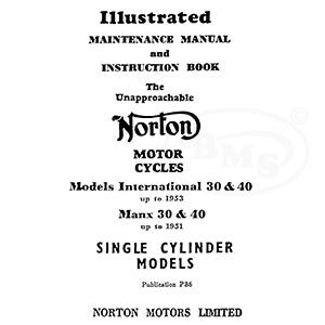 norton 1948 to 1951 maintenance manual for manx 30 40 racers and up rh nationalmotorcyclemuseum co uk Norton Commando Norton Classic