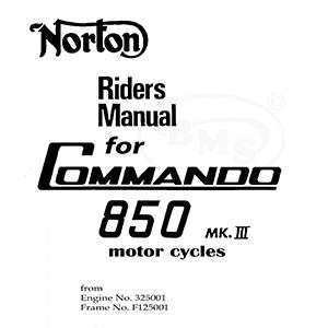 norton 1975 to 1977 instruction manual  828cc commando mk3 from engine no  325001 / frame no  125001  mackadown/958