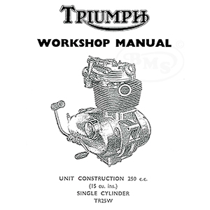 triumph 1969 to 1970 workshop manual for 250cc tr25w model  alton/2391 |  national motorcycle museum