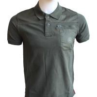 Classic Moto Polo Shirt Olive