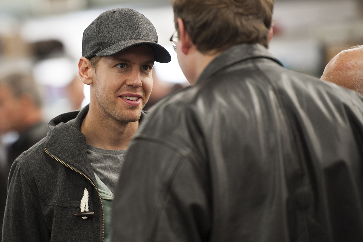 F1 world champion Sebastian Vettel in the Bonhams auction