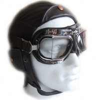 Motorcycle Goggles and Flying Helmets