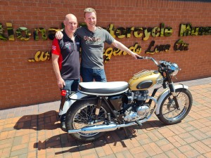 New owner collects bike