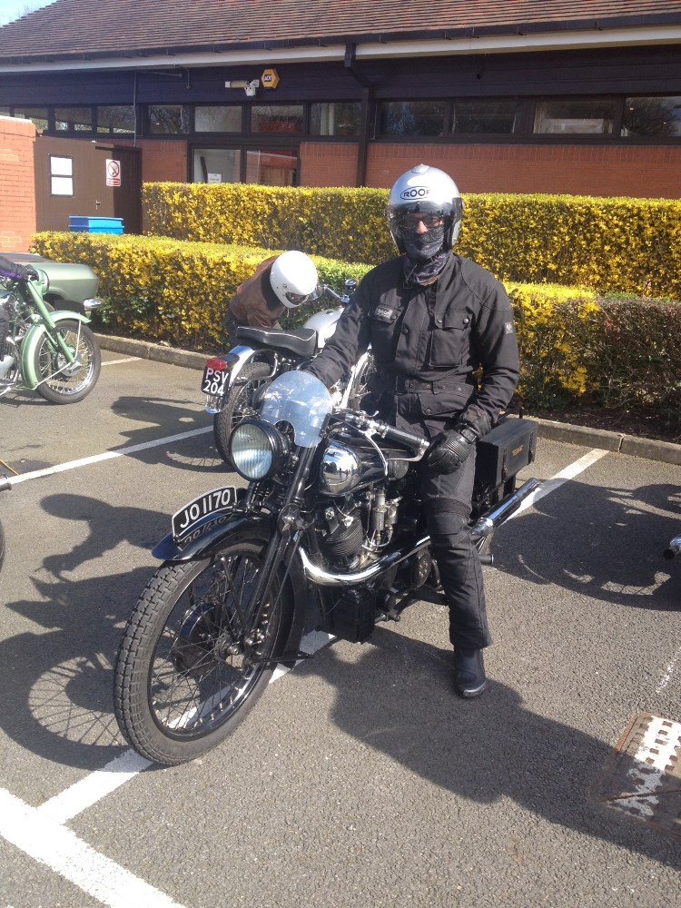 Our friends ride Brough's